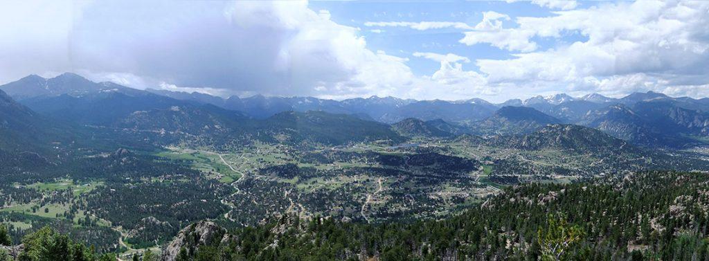 Panoramic Photo of Estes Valley